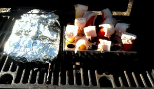Appetizer and side on the grill