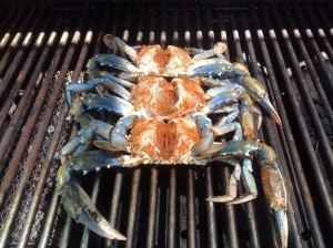 Crabs on the grill