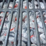 Medium heat clean grill